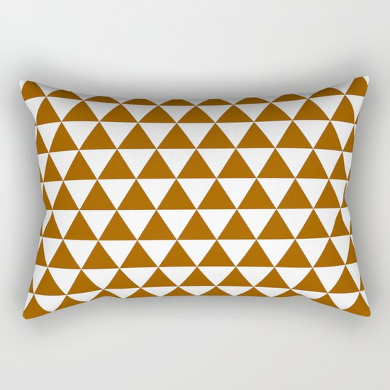 Triangles (Brown/White) Rectangular Pillow