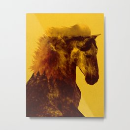 Proud Stallion Metal Print