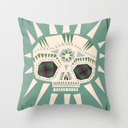 Sugar skull II Throw Pillow
