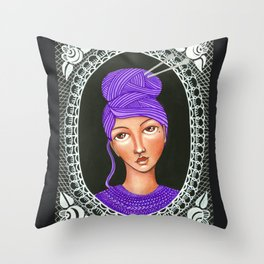 She's Crafty Throw Pillow