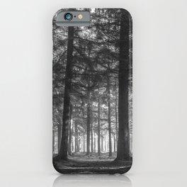 Black and white woods - North Kessock, Highlands, Scotland iPhone Case