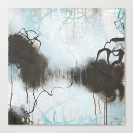 Into the Storm - Square Abstract Expressionism Canvas Print