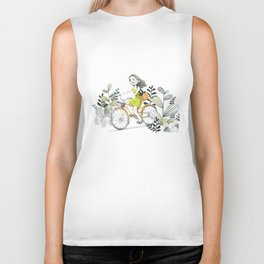 The Girl Riding A Bike Biker Tank