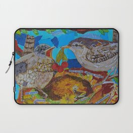 Two Birds In Colorful Nest With Quotes About Wrens Laptop Sleeve