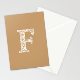 Floral Letter F Stationery Cards