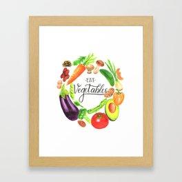 Eat vegetables Framed Art Print