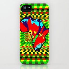 Colorful African Checkered Abstract Print iPhone Case
