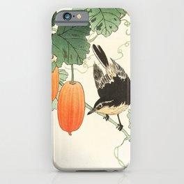 Ohara Koson, Bird Sitting On The Tree - Japanese Vintage Woodblock Print iPhone Case