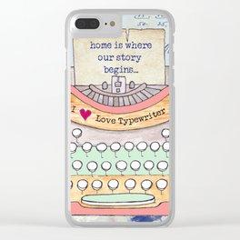 Typewriter #7 Clear iPhone Case