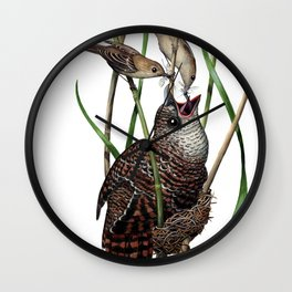 Baby Bird I Wall Clock