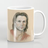 sam smith Mugs featuring Sam by Stormwolf Studios