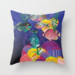 Exotic Sea Life Throw Pillow