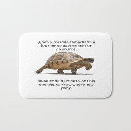 When A Tortoise Embarks On A Journey African Proverb Bath Mat