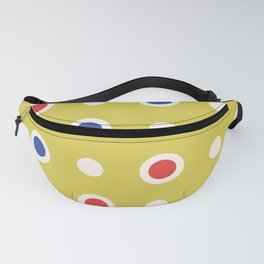 Polka Dot Pattern 241 Blue Red Yellow Fanny Pack