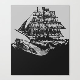Rocked To Sleep By The Billows Canvas Print