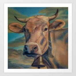 Sunset in the Pasture Art Print