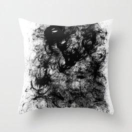 Black Swirly Throw Pillow