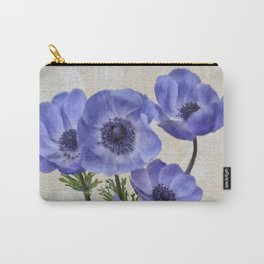 Pretty Periwinkle Poppies Carry-All Pouch