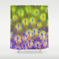 rare Shower Curtains featuring Rare Jungle, Rainbow by Lindel Caine
