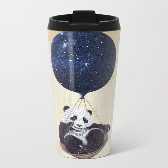Panda in space Metal Travel Mug