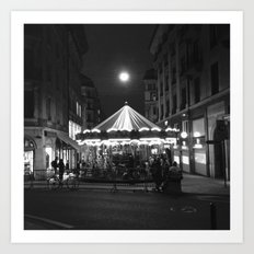 Geneva at night Art Print