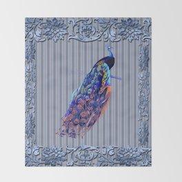 Splendor Peacock Fantasy Victorian Accents Throw Blanket