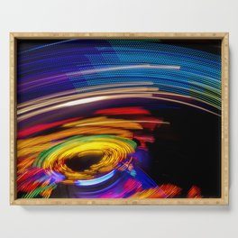 Traces of colored lights Serving Tray