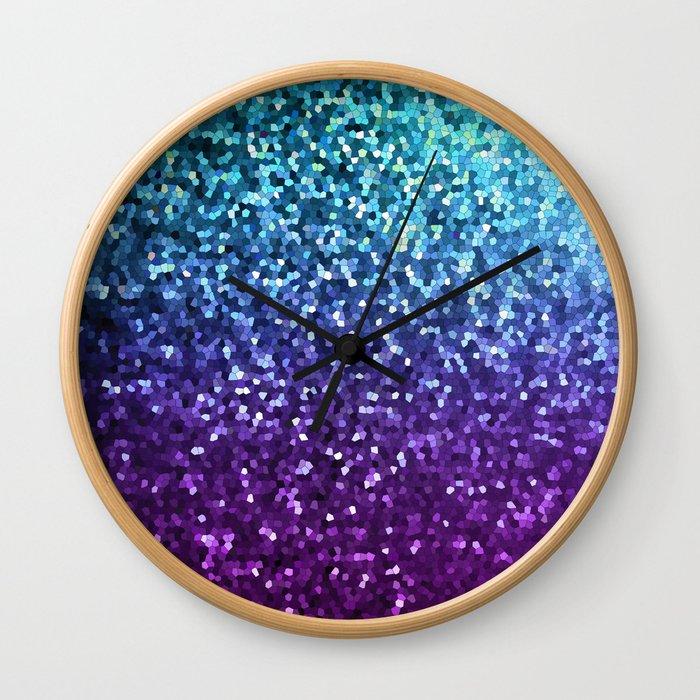 Mosaic Sparkley Texture G198 Wall Clock