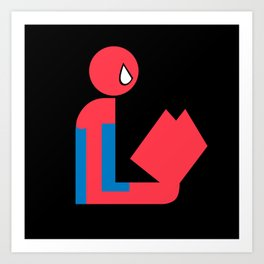 Gentleman Spider Reads Art Print