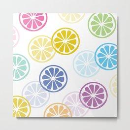 Colorful Lemons Metal Print