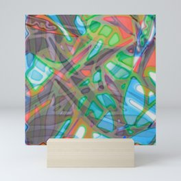 Colorful Abstract Stained Glass G299 Mini Art Print