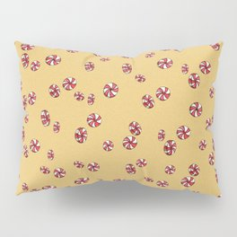 Peppermint Candy in Yellow Pillow Sham