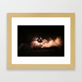 Fighting the fire Framed Art Print