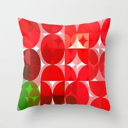 Mottled Red Poinsettia 1 Ephemeral Abstract Circles 3 Throw Pillow