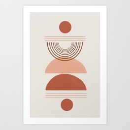 Geometric Modern Shapes, Art Art Print