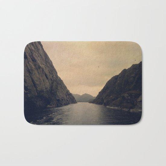 mountains - follow your heart Bath Mat