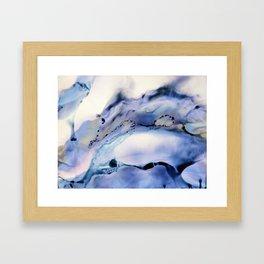 Blue Gray Clouds Framed Art Print