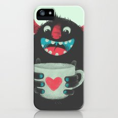 Demon with a cup of coffee iPhone (5, 5s) Slim Case
