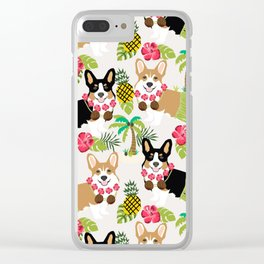 Hula Corgis Fabric Clear iPhone Case