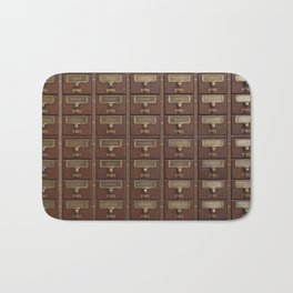 Vintage Library Card Catalog Drawers Bath Mat