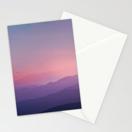 Stunning sunset mountain view Stationery Cards