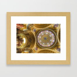 St Stephens Basilica Budapest Framed Art Print