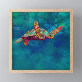 Flight of the Turtle Framed Mini Art Print