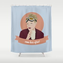 come here often? Shower Curtain