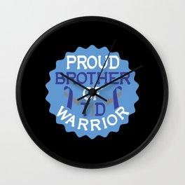 Proud Brother Diabetes Awareness Diabetic Warrior Wall Clock