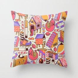 chaotic life Throw Pillow