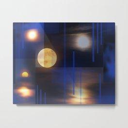 A Moon Lit Night Metal Print