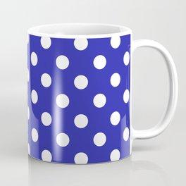 Polka Dots (White & Navy Pattern) Coffee Mug