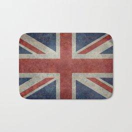 UK Flag, Dark grunge 3:5 scale Bath Mat