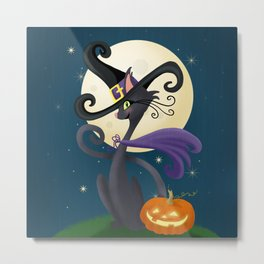Halloween Night Magic Metal Print